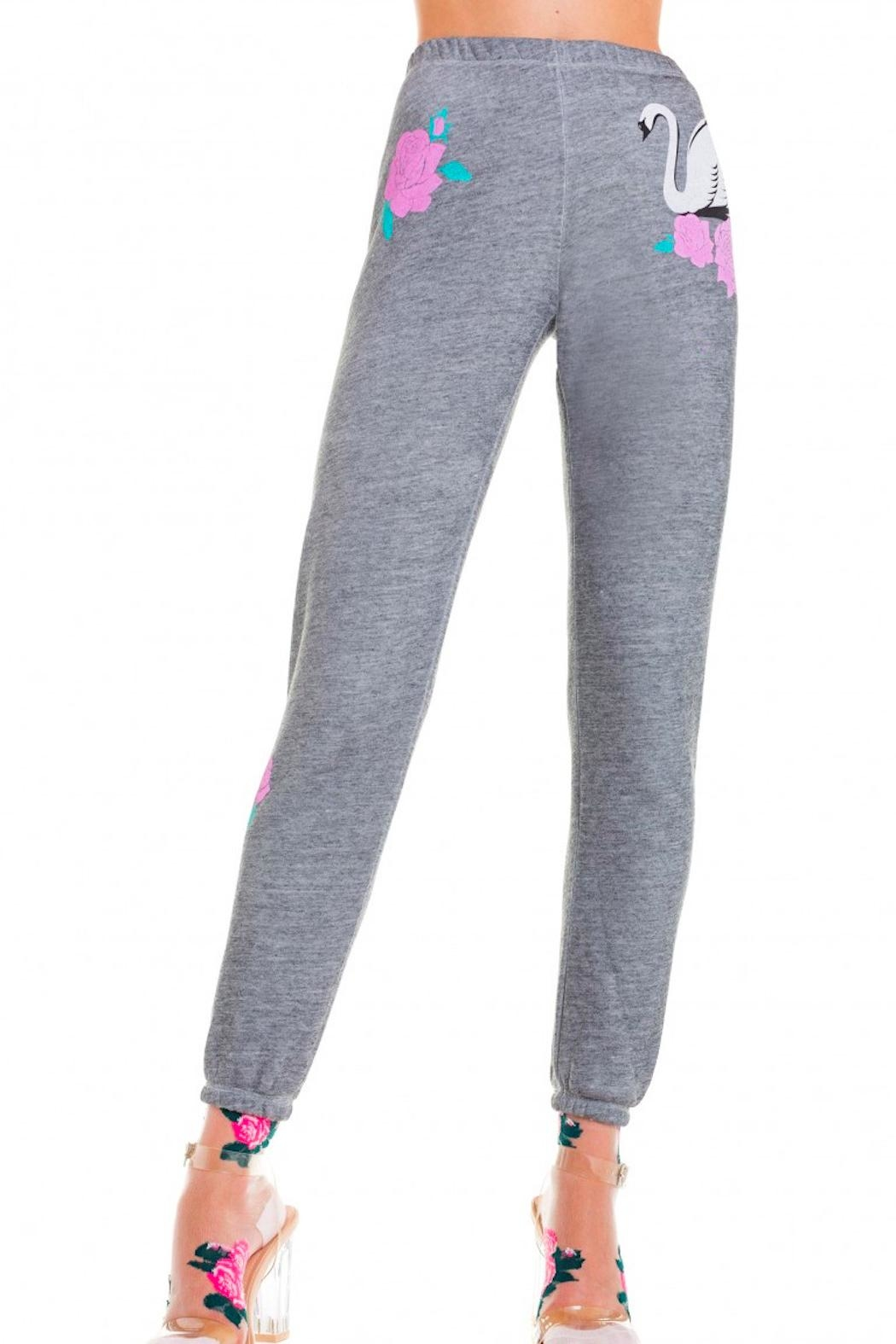 Wildfox Swans Crossing Sweatpants - Back Cropped Image