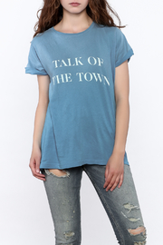 Wildfox Blue Statement Tee - Product Mini Image
