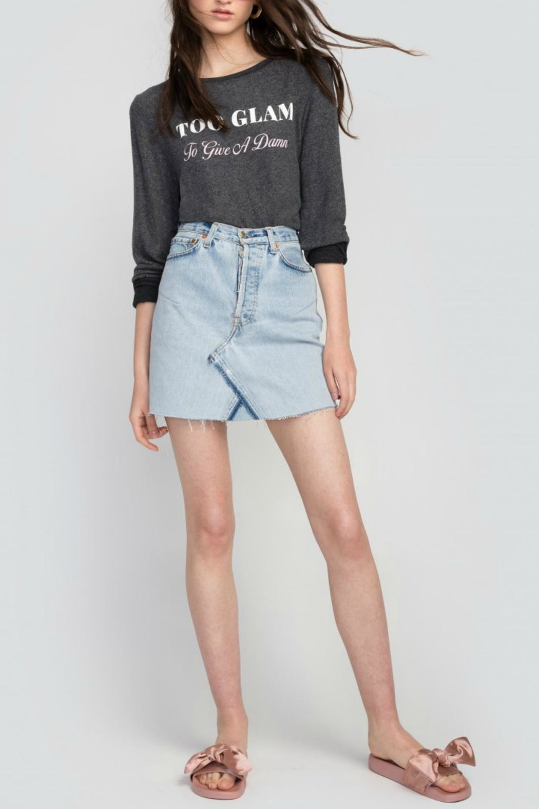 Wildfox Too Glam Sweatshirt - Front Cropped Image