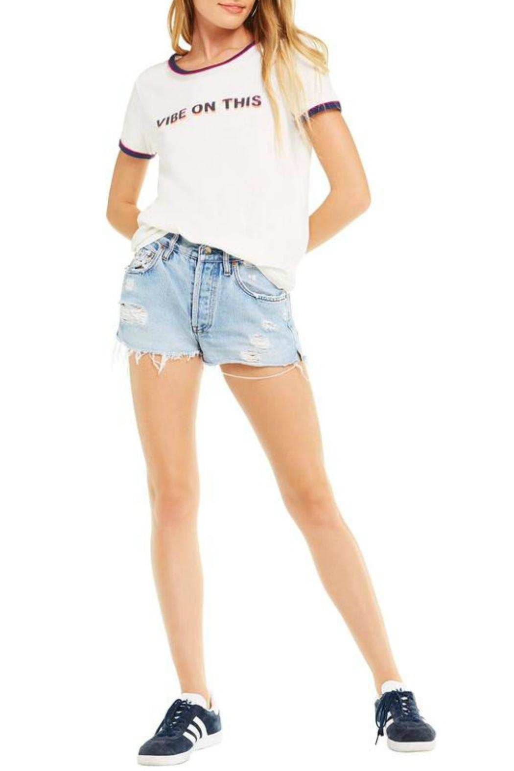 Wildfox Vibe-On-This Tee - Front Full Image