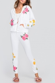 Wildfox White Floral Sweatpants - Product Mini Image