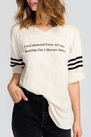Wildfox Working Out Tunic Top - Product Mini Image