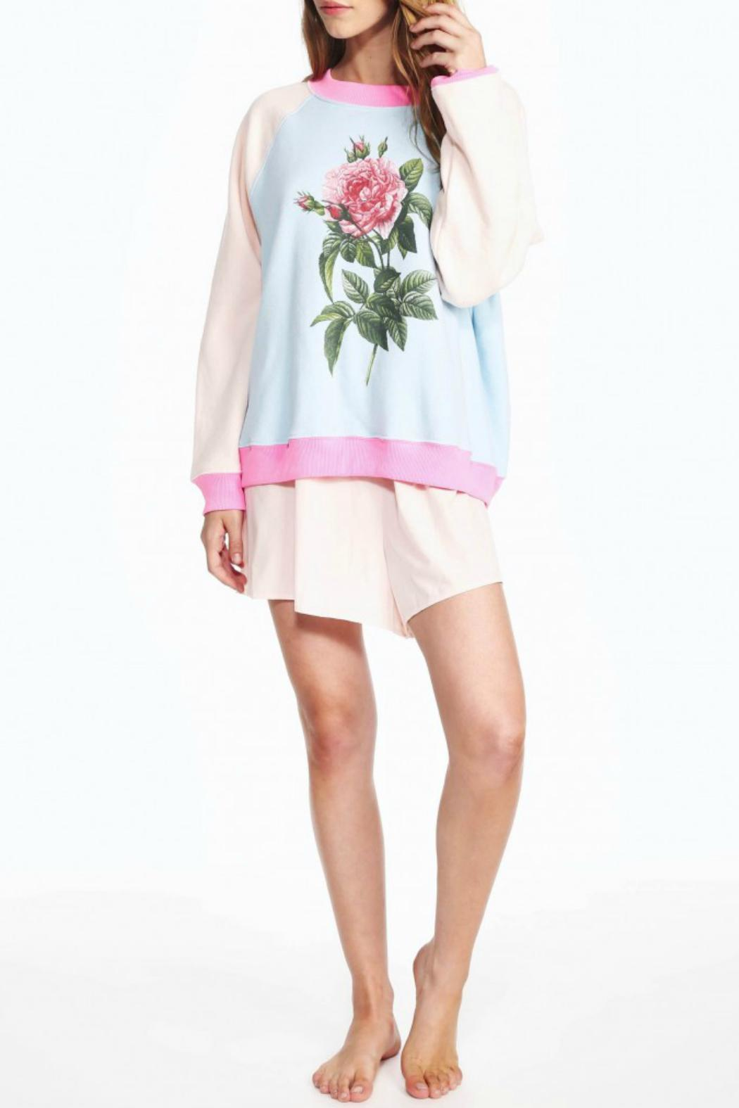 WildFox Couture Floral Sweatshirt - Front Full Image