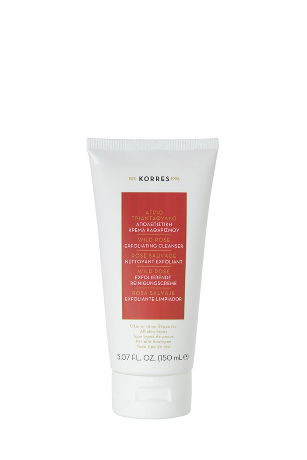 Korres Wildrose Exfoliating Cleanser - Front Cropped Image