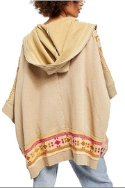 Free People Wildside Poncho In Dune Beige - Front full body
