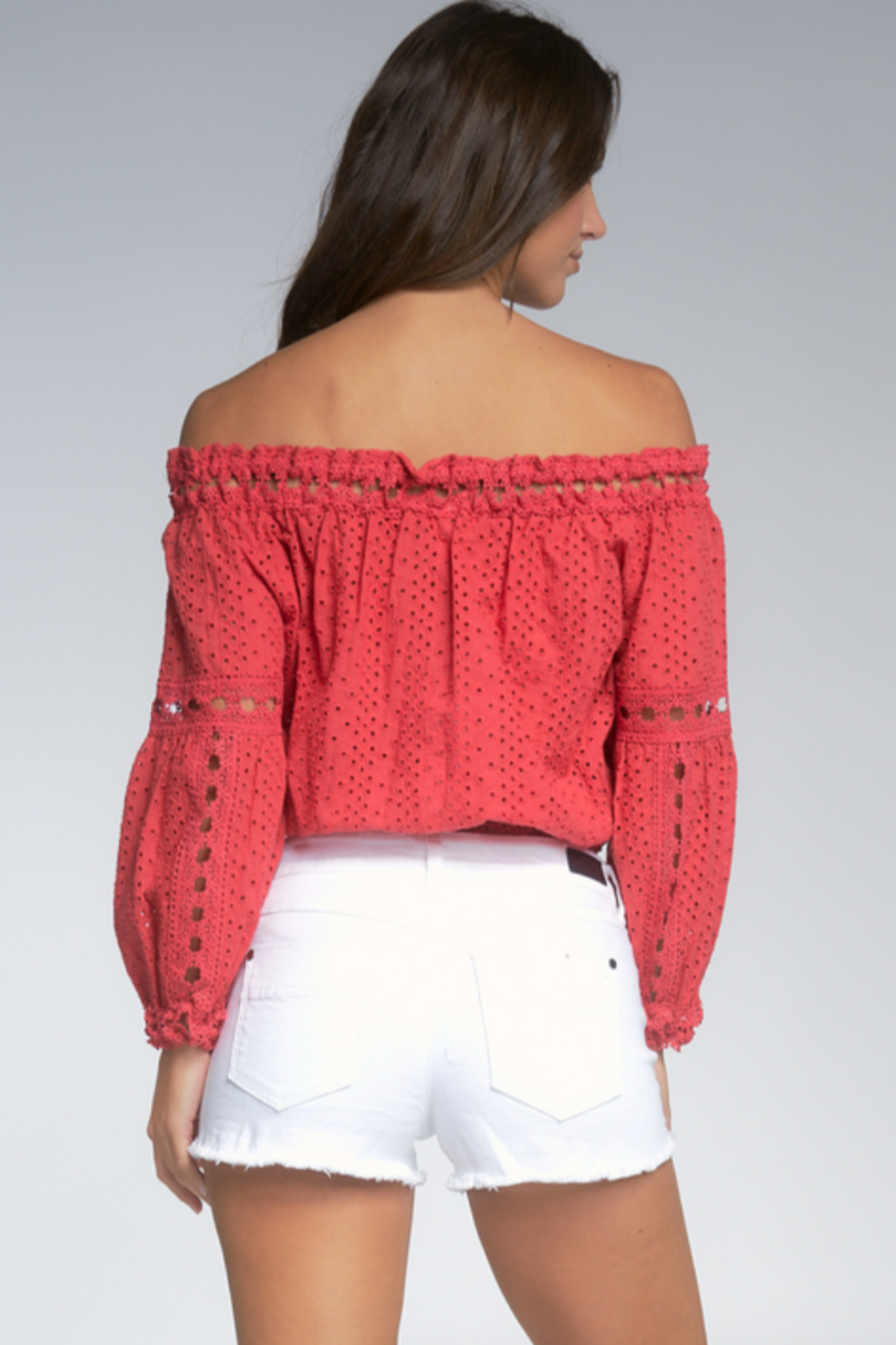 Elan  Wilhelmina Off-Shoulder Top - Side Cropped Image