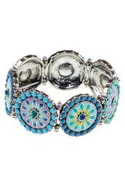 Wilkins & Olander Enameled Flower Bracelet - Product Mini Image