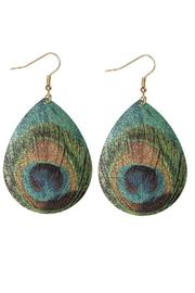 Wilkins & Olander Feather Print Earrings - Product Mini Image
