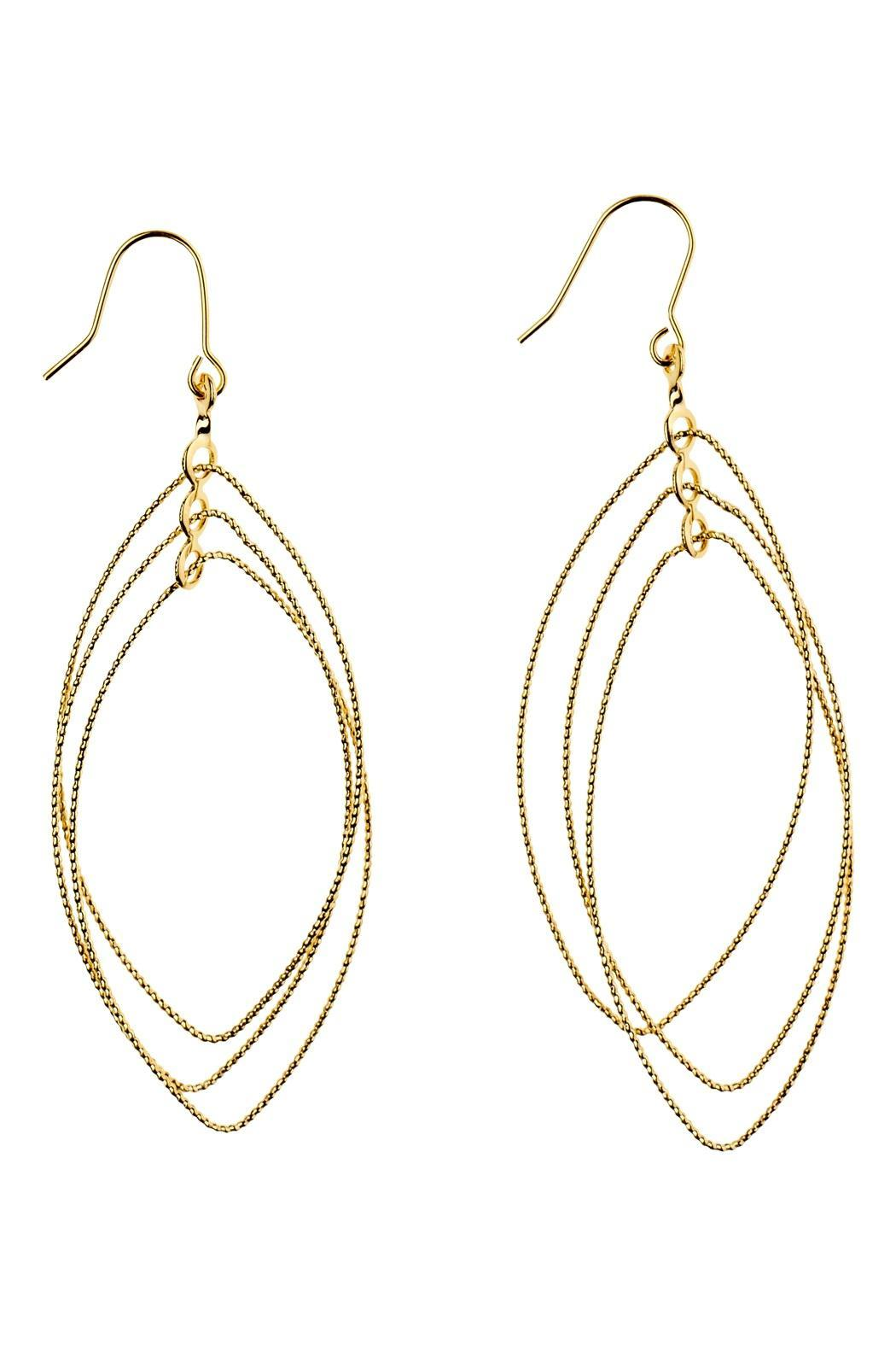 Wilkins Olander Oval Spinning Earrings Front Cropped Image