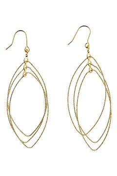 Shoptiques Product: Oval Spinning Earrings