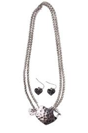 Wilkins & Olander Toggle Heart Necklace - Product Mini Image
