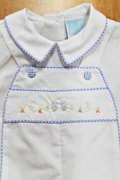 Will'beth Gingham-Border Embroidered Romper - Alternate List Image