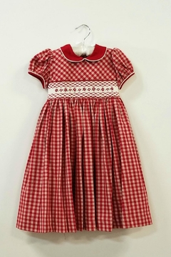 Shoptiques Product: Red Plaid Smocked Dress
