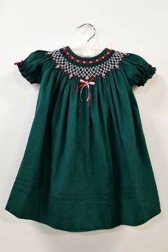 Will'beth Regal Green Bishop Dress - Product List Image