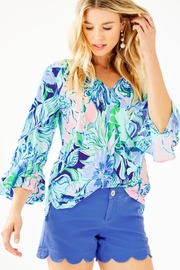 Lilly Pulitzer Willa Flounce-Sleeve Top - Product Mini Image