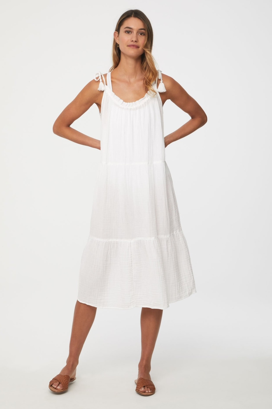 beachlunchlounge Willa Tie Shoulder Dress - Main Image