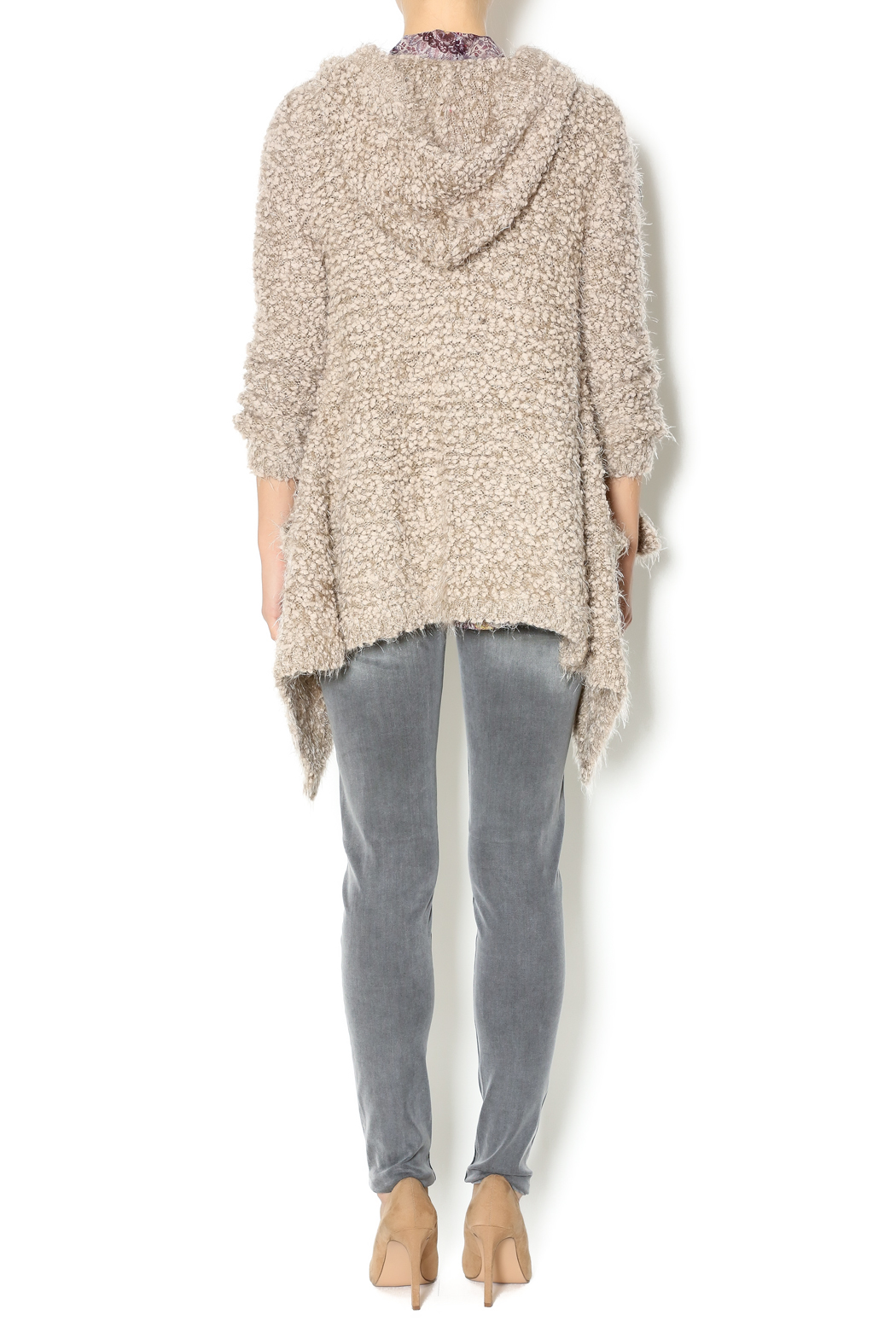 WILLIAM B Fuzzy Hooded Cardigan from Los Angeles by WILLIAM B   ...