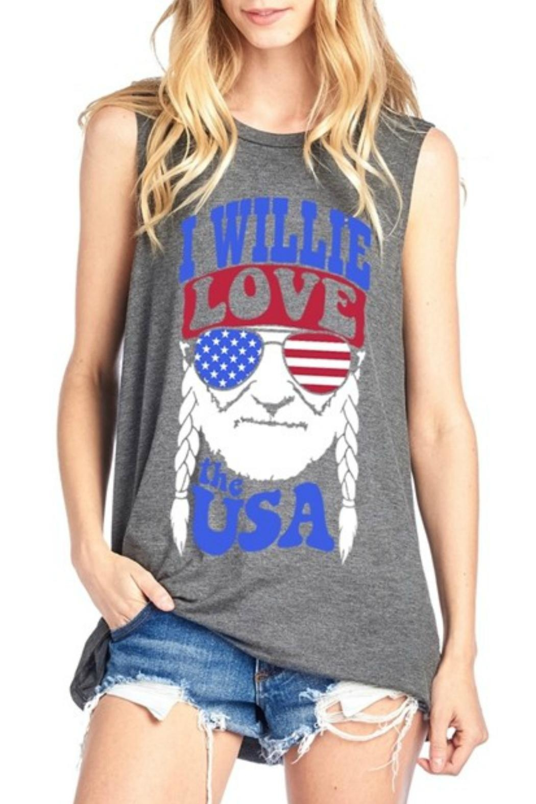 Imagine That Willie Usa Top - Main Image