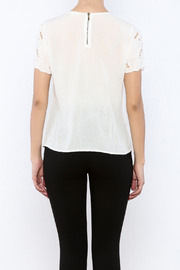 Willow & Clay Ivory Embellished Top - Back cropped