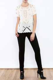 Willow & Clay Ivory Embellished Top - Front full body