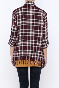 Shoptiques Product: Plaid Fringe Shirt