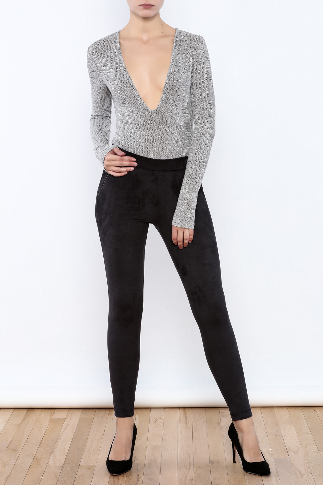 Willow & Clay The Suedette Legging - Front Full Image
