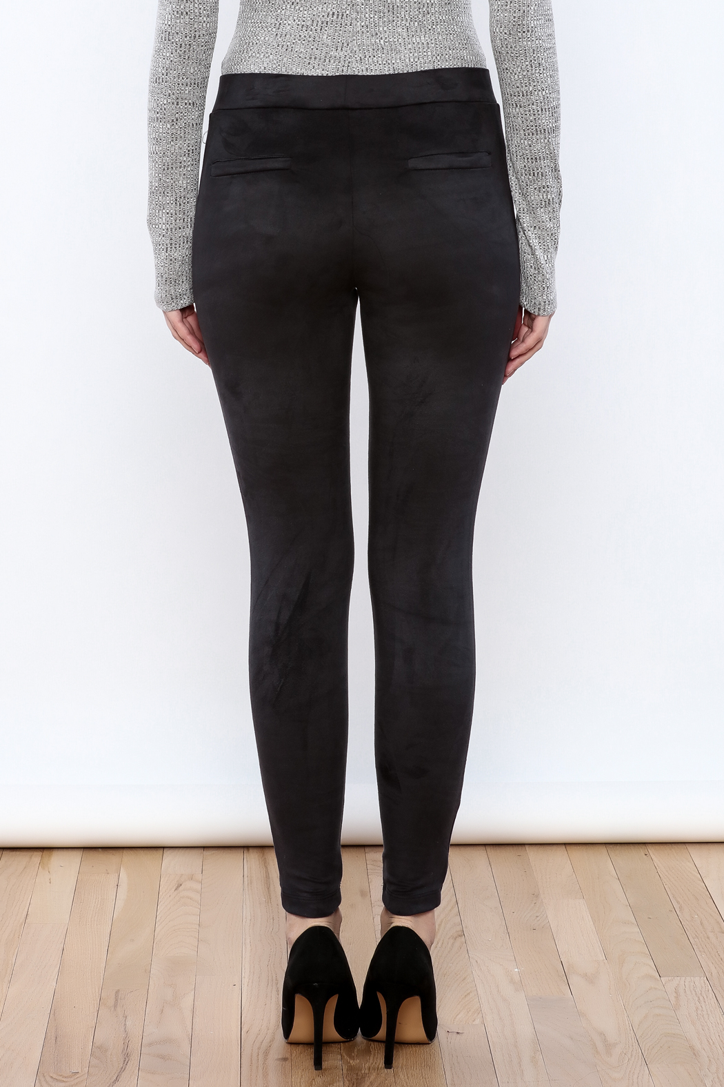 Willow & Clay The Suedette Legging - Back Cropped Image