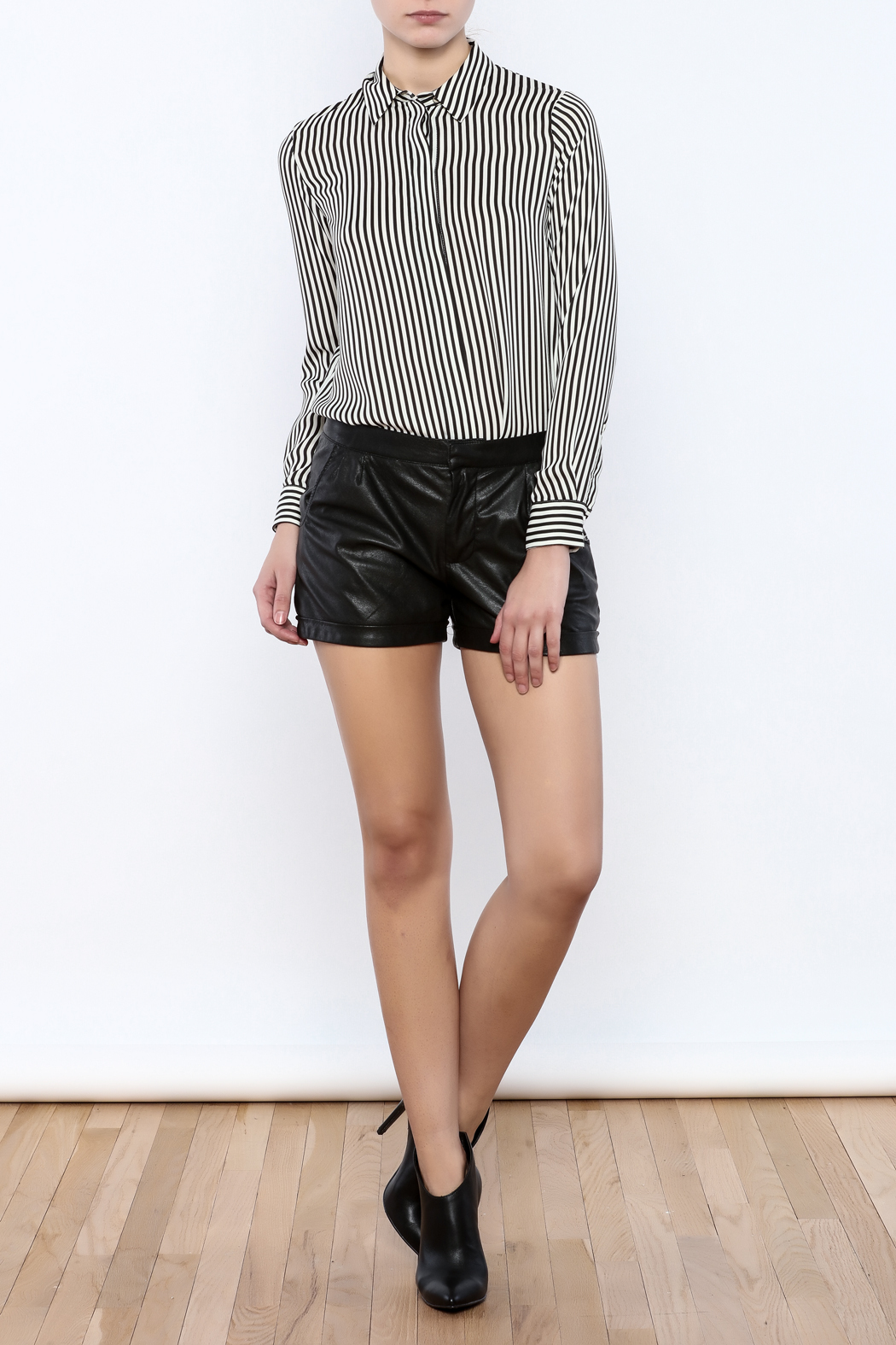 Willow & Clay Vegan Leather Shorts - Front Full Image