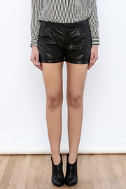 Willow & Clay Vegan Leather Shorts - Side cropped
