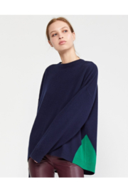 Cynthia Rowley Willow Merino Cashmere Colorblock Sweater - Product Mini Image