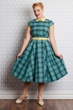 ac85d7c9ca Shoptiques Product  Willow-Mint Tartan Shirt-Dress ...