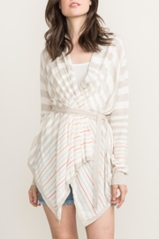 Cashmere N Tee Willow Stripe Sweater - Product Mini Image