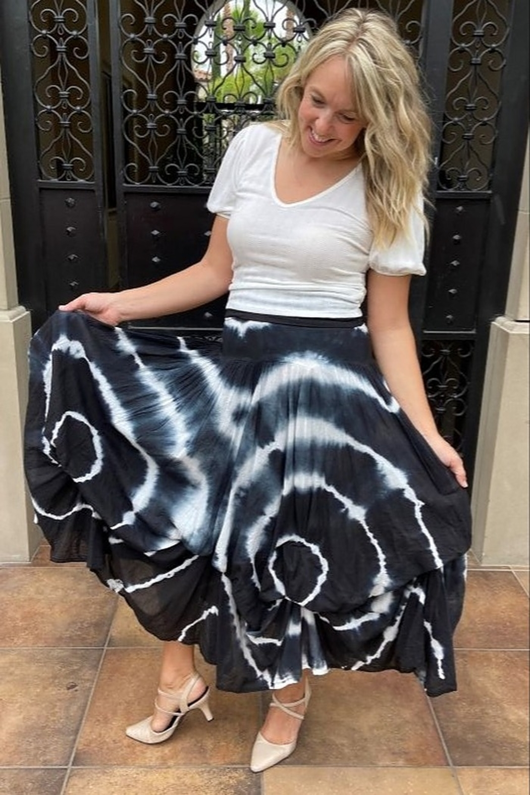 Apparel Love Willow Tie-Dye bubble Skirt - Front Full Image