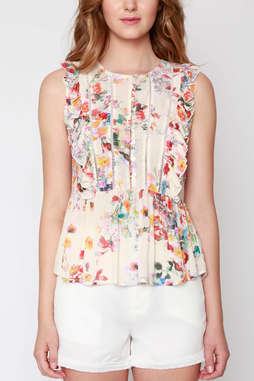 Willow & Clay Daydream Ruffle Blouse - Front Cropped Image