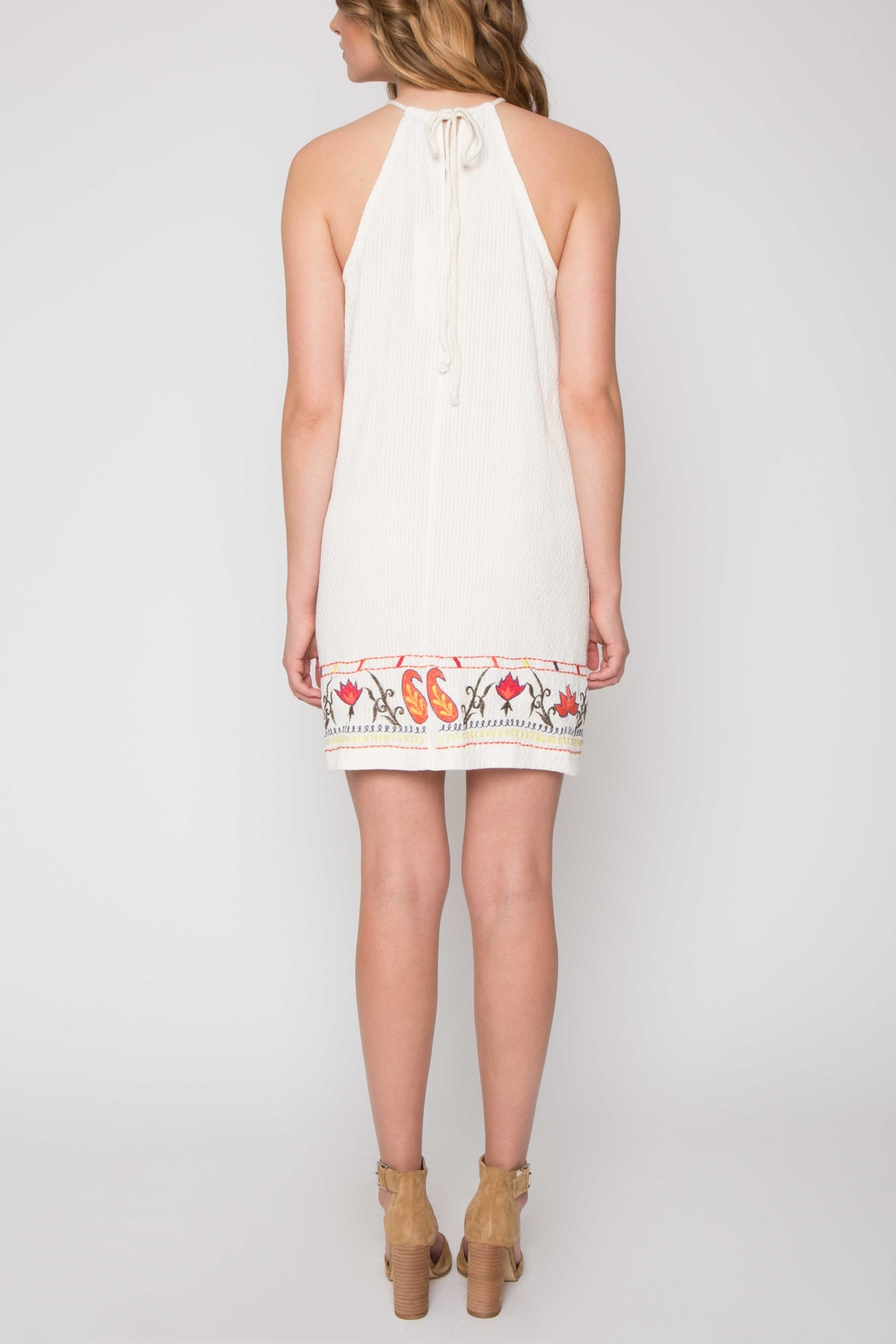 Willow & Clay Embroidered Halter Dress - Front Full Image