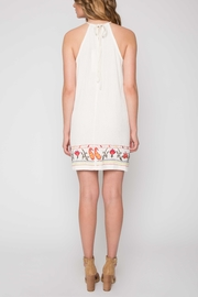 Willow & Clay Embroidered Halter Dress - Front full body