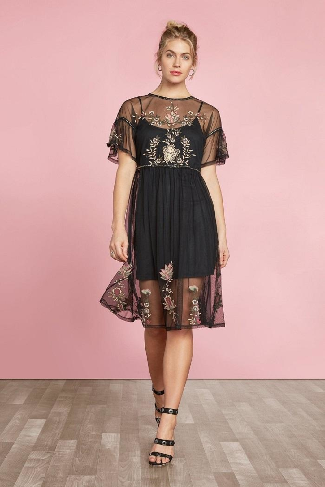 Willow & Clay Embroidered Tunic Dress - Main Image