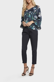 Willow & Clay Floral Bell Sleeve Top - Front cropped