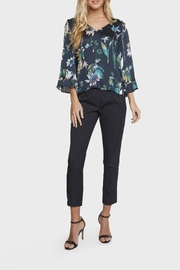 Willow & Clay Floral Bell Sleeve Top - Front full body