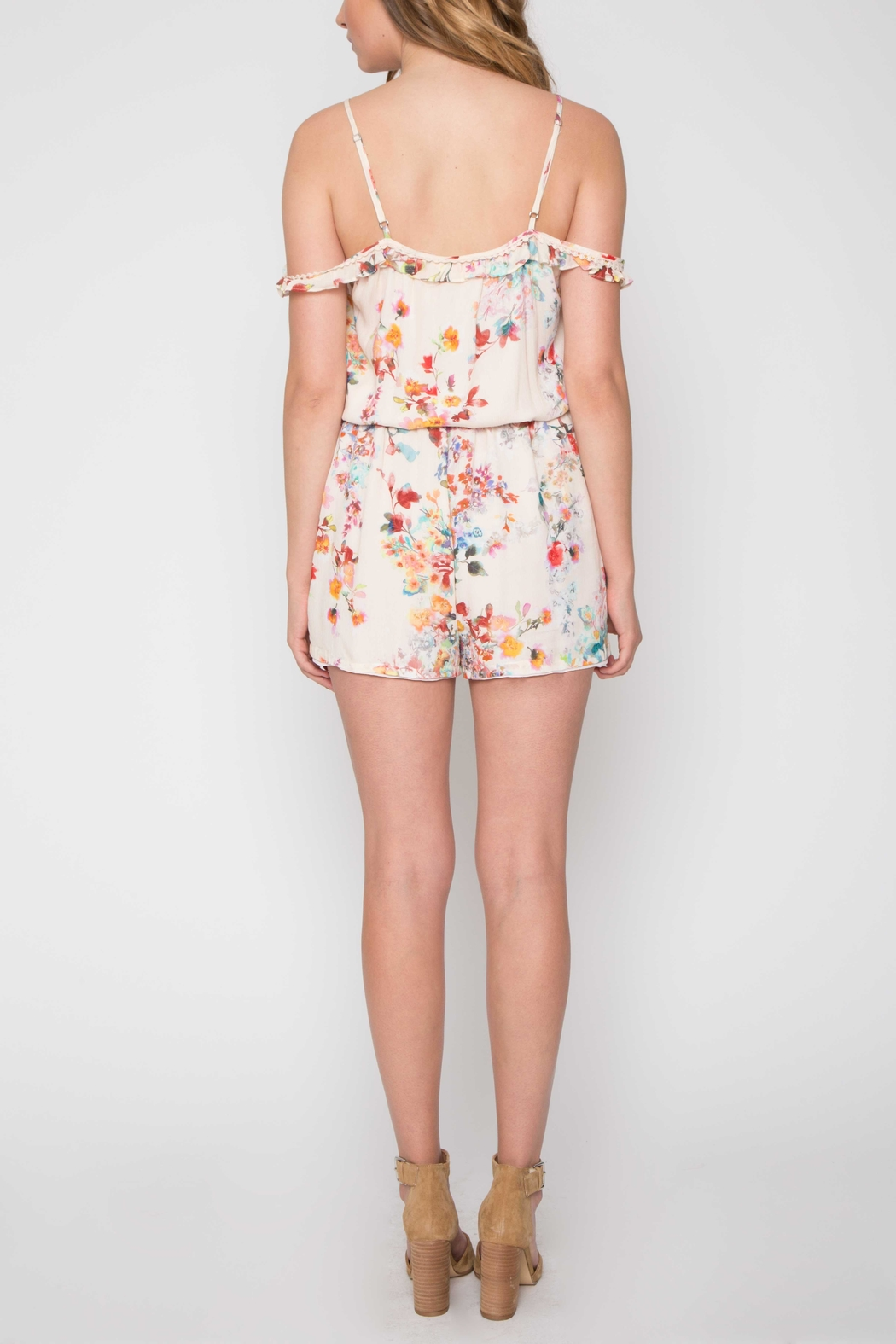 Willow & Clay Floral Daydream Romper - Front Full Image