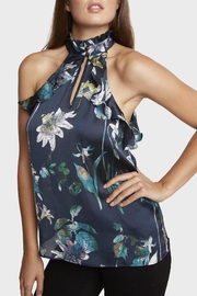 Willow & Clay Floral Print Halter Top - Front cropped