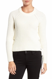 Willow & Clay Grommet Lace Up Top - Product Mini Image