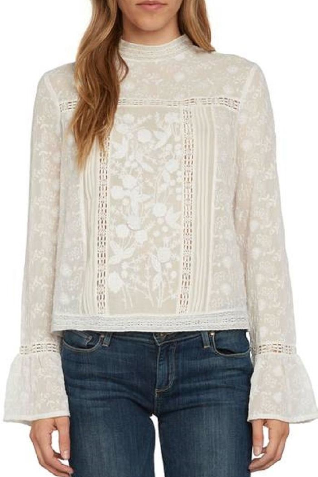 Willow & Clay Ivory Lace Top - Main Image