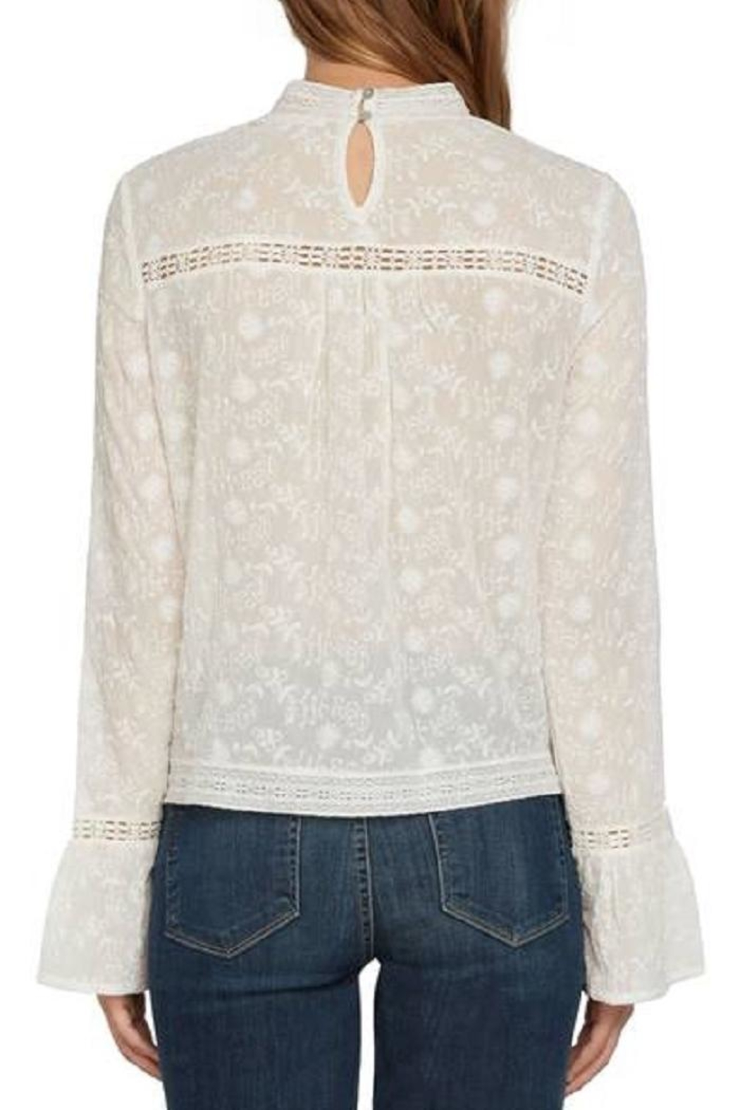 Willow & Clay Ivory Lace Top - Front Full Image