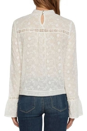 Willow & Clay Ivory Lace Top - Front full body
