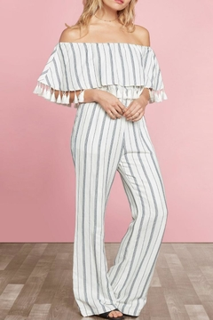 Willow & Clay Miki Striped Jumpsuit - Product List Image