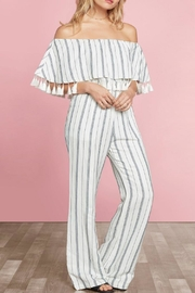 Willow & Clay Miki Striped Jumpsuit - Product Mini Image