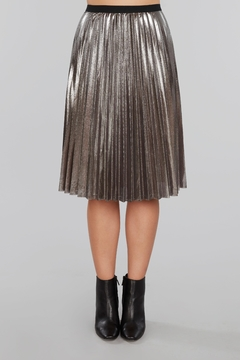 Shoptiques Product: Pleated Metallic Midi Skirt