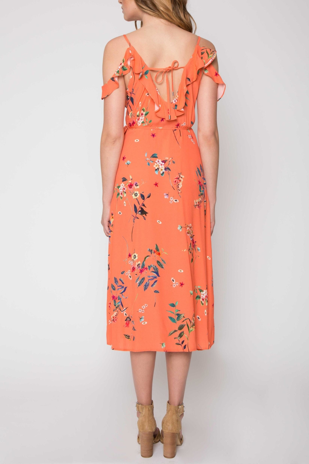 Willow & Clay Printed Wrap Dress - Front Full Image