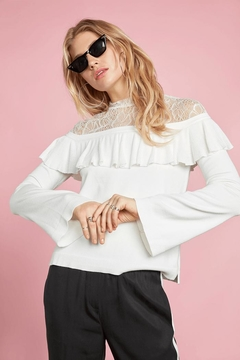 Willow & Clay Ruffle Lace Sweater - Product List Image